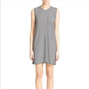 ATM striped pocket tank dress